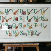 Alfabet muziek schilderij