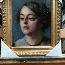 Uitgeputte vrouw portret