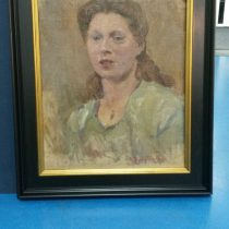 Vrouwelijk portret schilderij