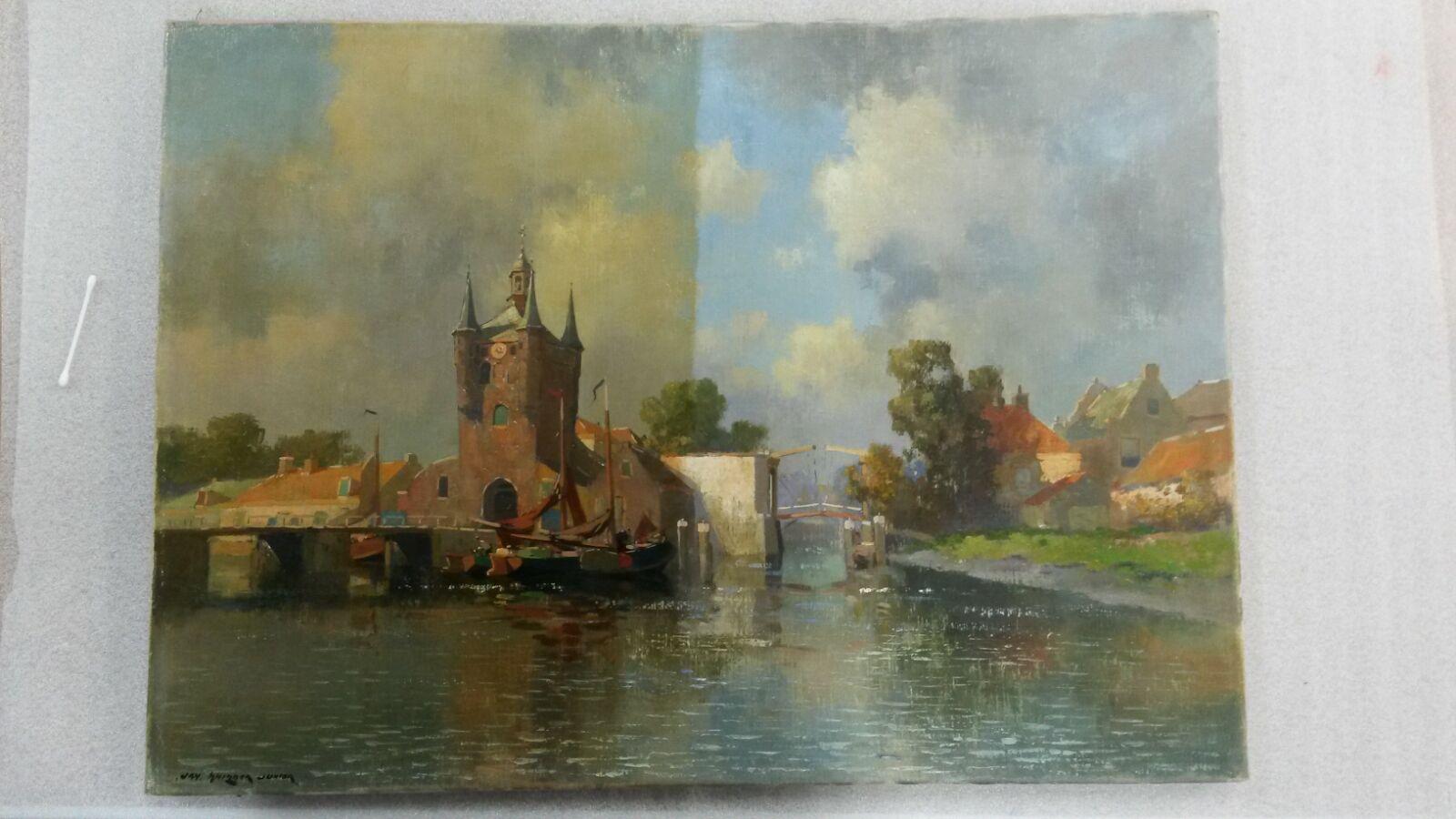 Verschil Na Schoonmaken Schilderij Bleeker Lijsten Lijstenmakerij Groningen